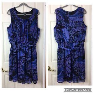 Soho Apparrel Ltd. 22W purple sleeveless dress
